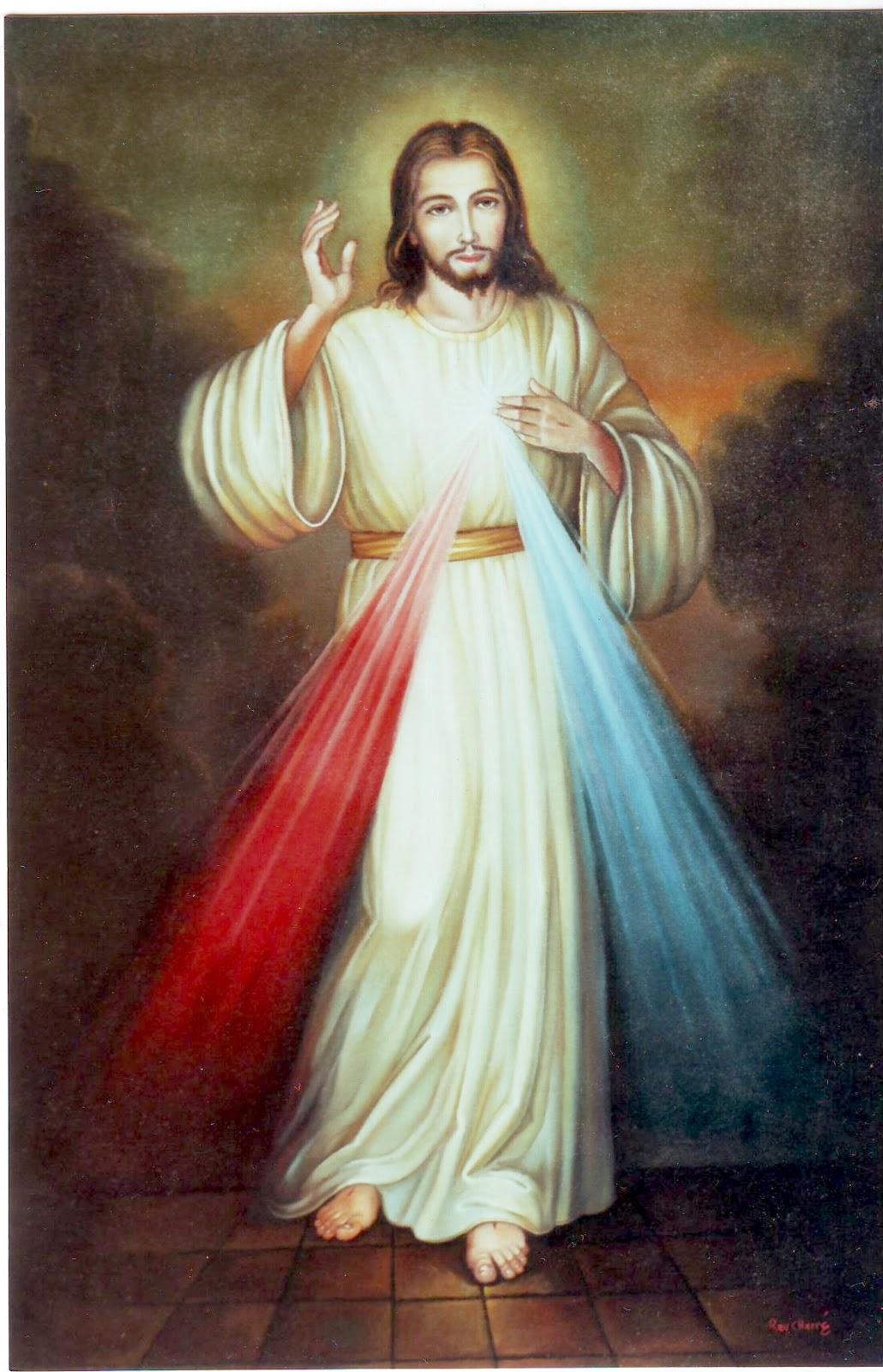 Dibujo Jesús de la Divina Misericordia
