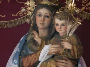 niño Jesús con la Virgen María