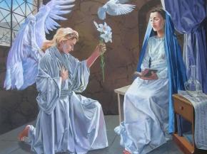 Anunciacion, Virgen María
