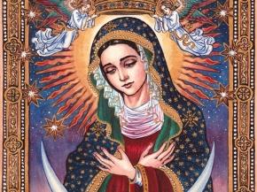 Pintura de la Virgen María