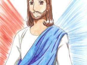 Jesucristo ilustración dibujo