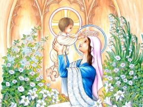 Virgen María y el niño