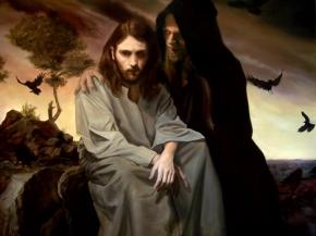 Jesús tentado en el desierto