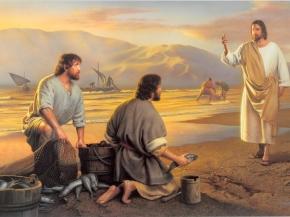 Jesús pescadores orilla. Pedro.