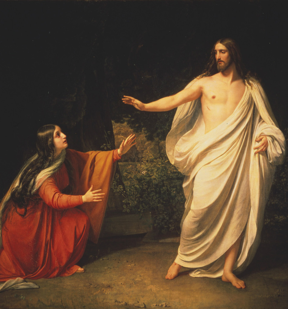 S0058944 The Apparition of Christ to Mary Magdalen (Noli Me Tangere). Image licenced to Joseph  Hinckley Brigham Young University by Joseph  Hinckley Usage :  - 3000 X 3000 pixels (Letter Size, A4)  © Scala / Art Resource