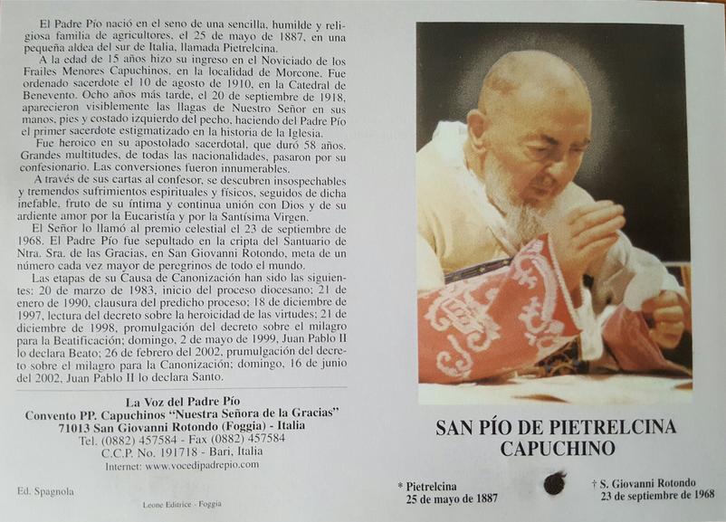Novena al Padre Pio